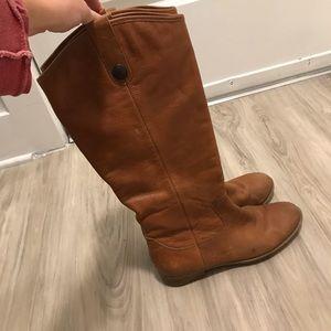 Merona Cognac Leather Riding Boots
